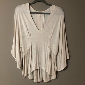 Free People Kimono V Neck Cream Sweater Size S